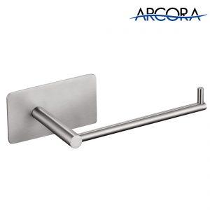 ARCORA No Drill Toilettenpapierhalter Nickel gebürstet
