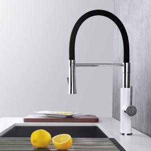 Küchenarmatur Magnetische Dockingstation Schwarz Chrom