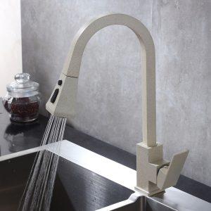 Arcora High Arch Pull Down Sprayer Weizen Küchenarmatur