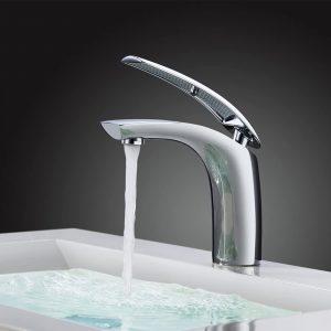 Chrom Wasserhahn Bad Waschtisch Armatur Waschbecken Einhebelmischer Waschtischarmatur Mischbatterie