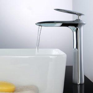Becken Wasserhahn mit Duschkopf Chrom